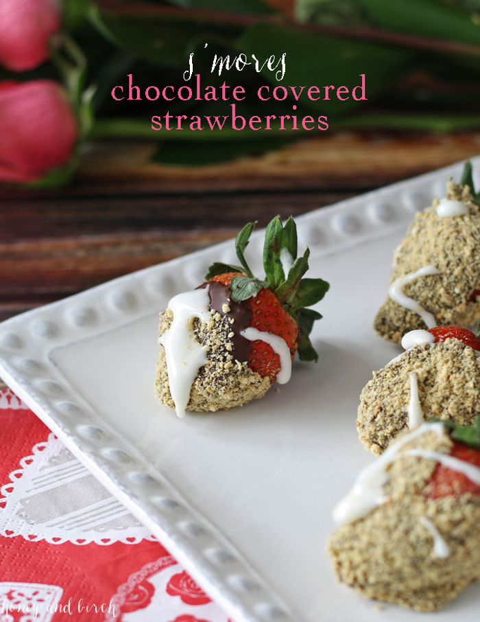 S'more Chocolate Covered Strawberries