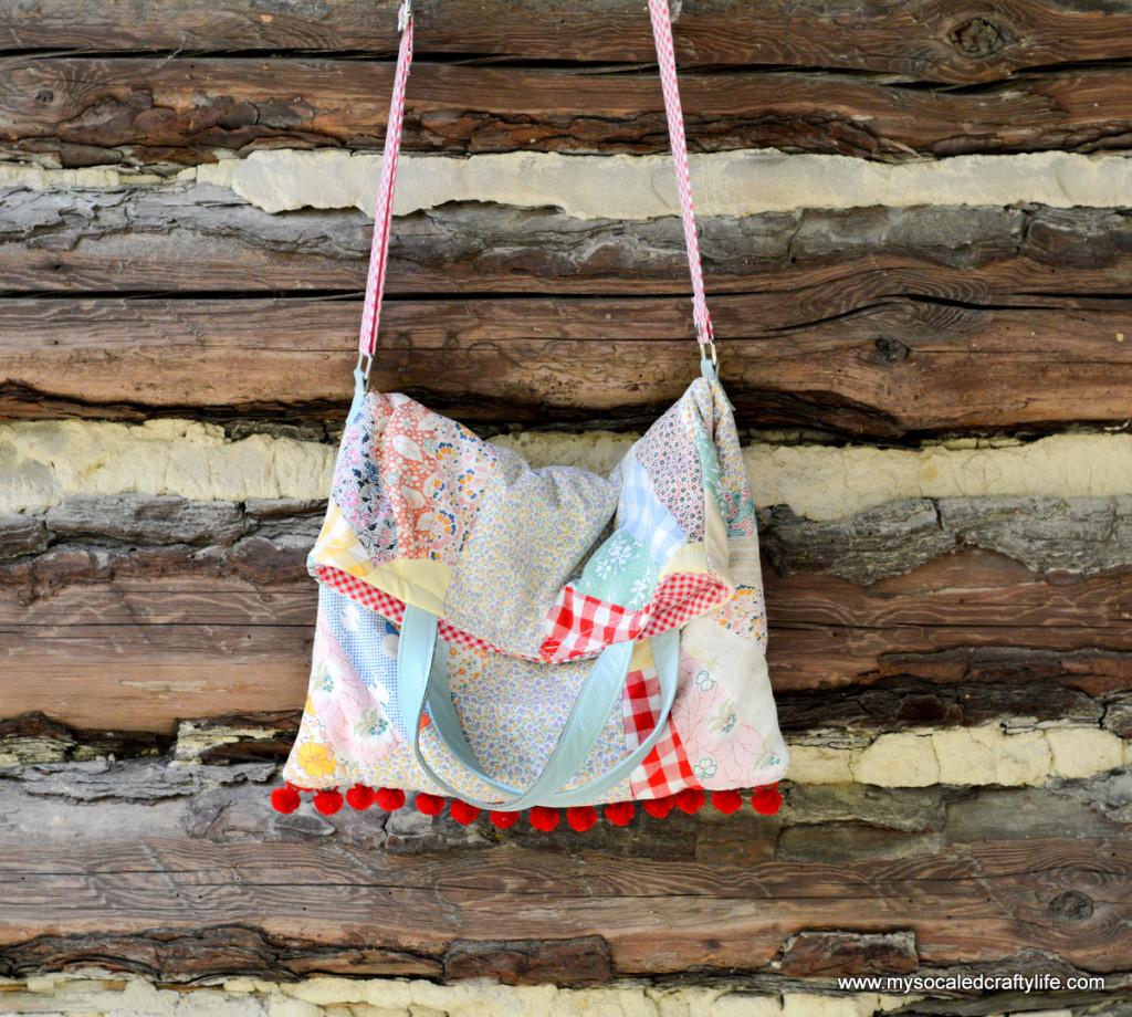DIY vintage quilt turned into bag - LOVE!