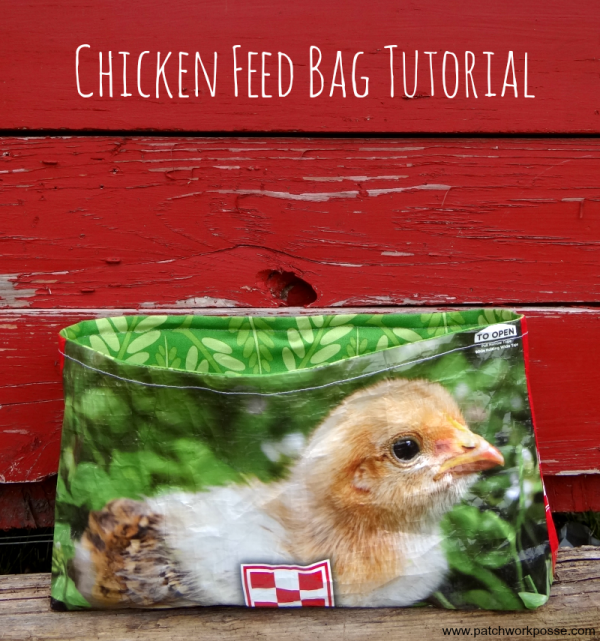 How to make this cute chicken feed bag! Tutorial by Patchwork Posse