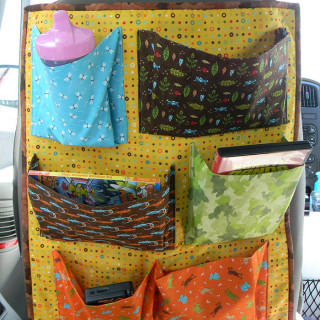Car Seat Back Organizer Tutorial