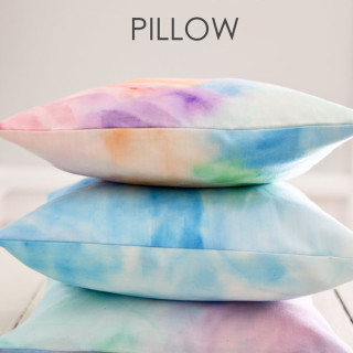How to Watercolor Fabric and Make an Envelope Pillow