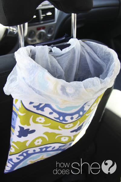 Sew your own car trash bag - easy and practical!