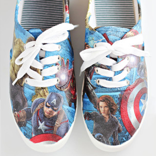 DIY Avengers Superheroes Shoes