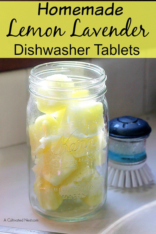 Homemade Lemon Lavender Dishwasher Tablets