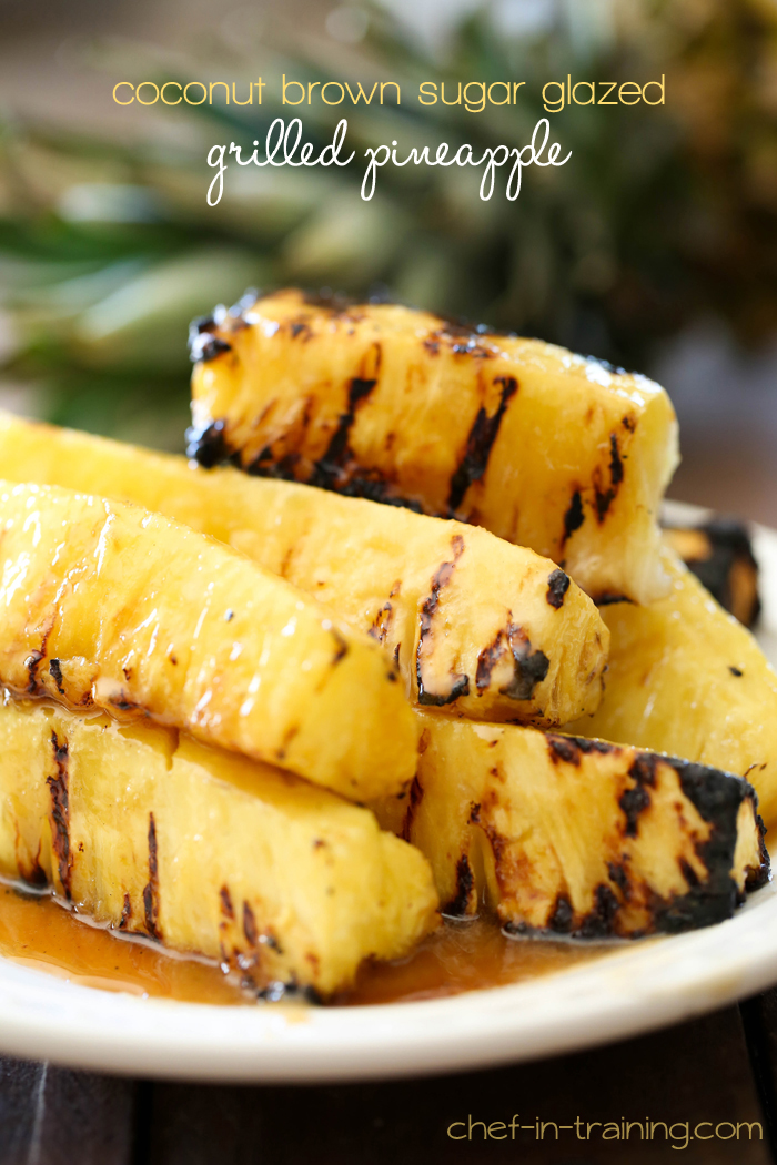 Coconut Brown Sugar Glazed Pineapple