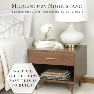 Midcentury Nightstand Plans and Instructions