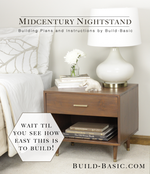 midcentury nightstand plans and instructions. Black Bedroom Furniture Sets. Home Design Ideas