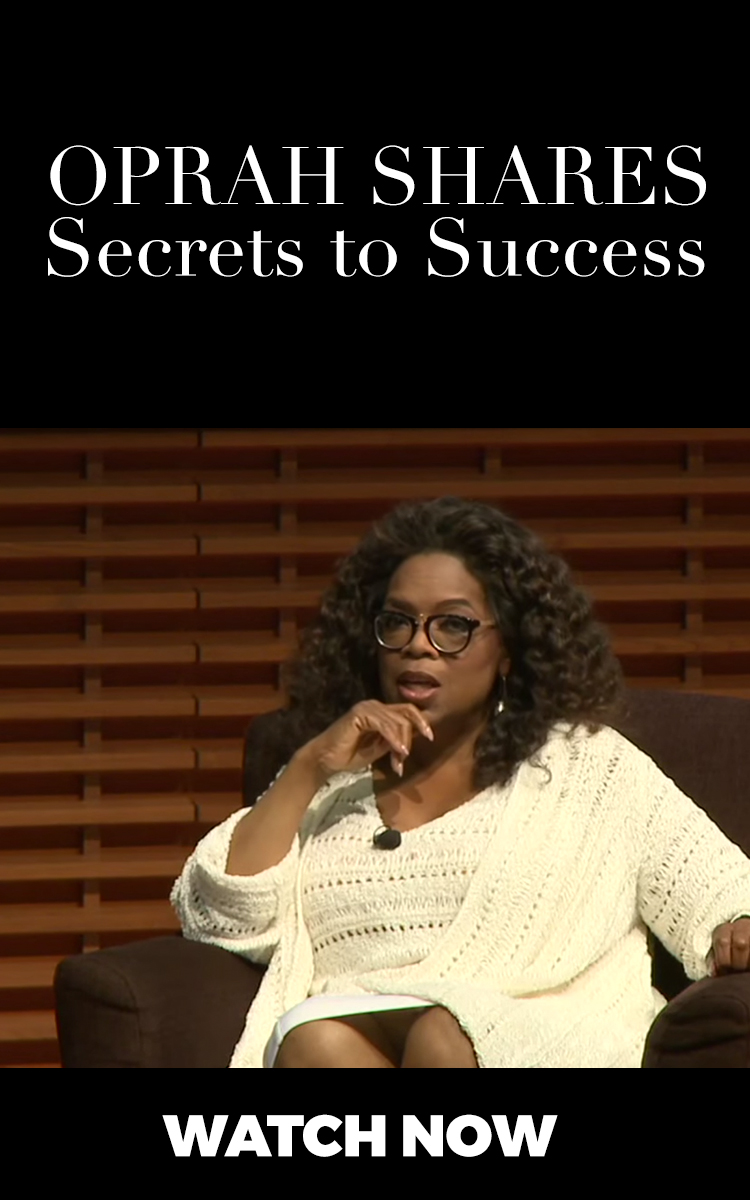 Oprah shares her secrets to her success - POWERFUL!