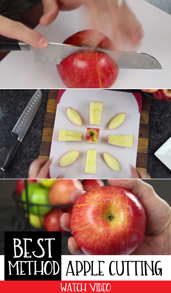 The best apple cutting method - prevents them from browning!!