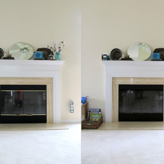 Say No To Brass: Fireplace Makeover