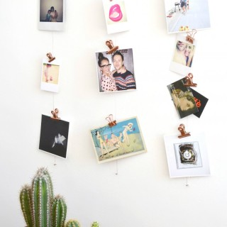 Copper Clip Photo Display