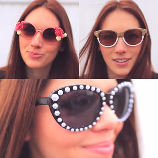 DIY Dollar Store sunglasses