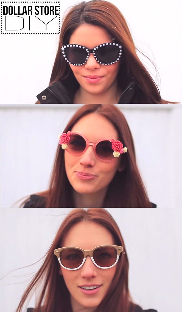 DIY Dollar Store sunglasses! These are so easy (and cheap!)