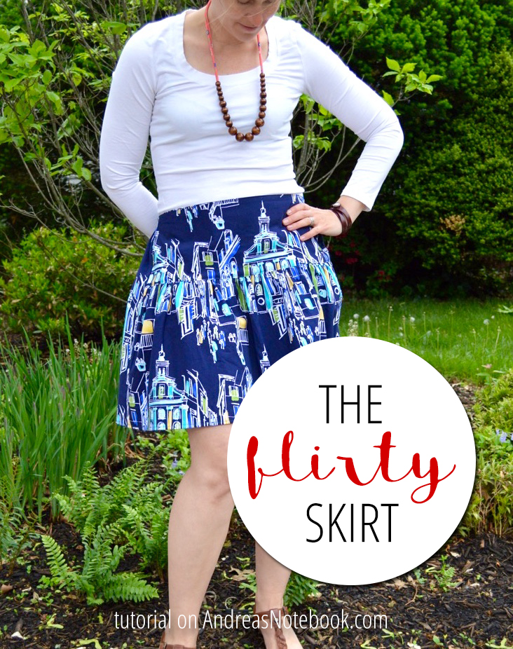 Make this cute (easy) flirty skirt - Great tutorial!