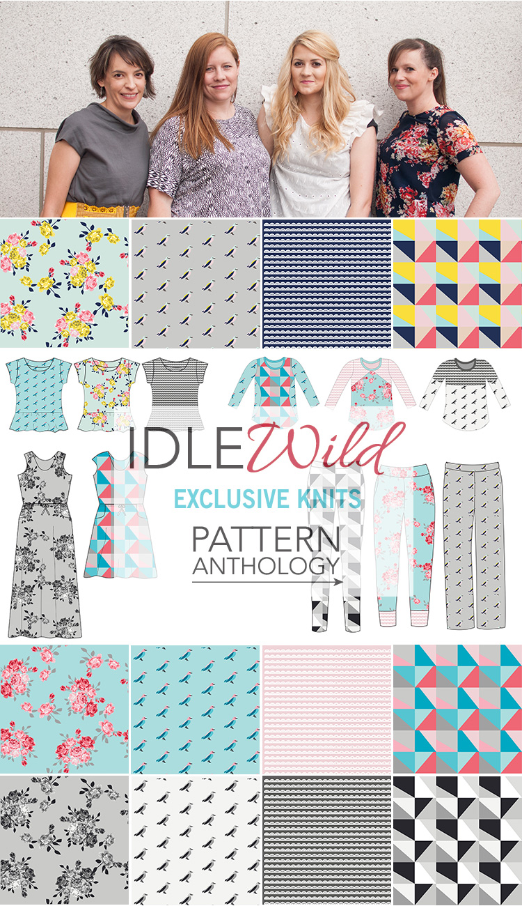NEW IdleWild knit fabric by Pattern Anthology!