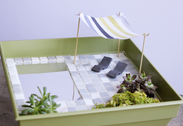 modern fairy garden