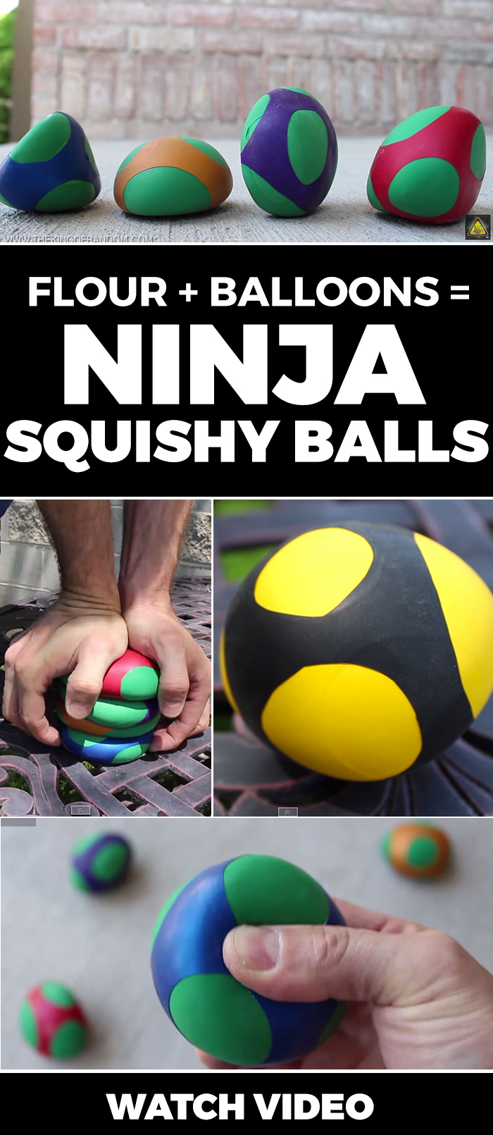 These are AWESOME!! Fun to make and fun to use! Ninja squishy balls