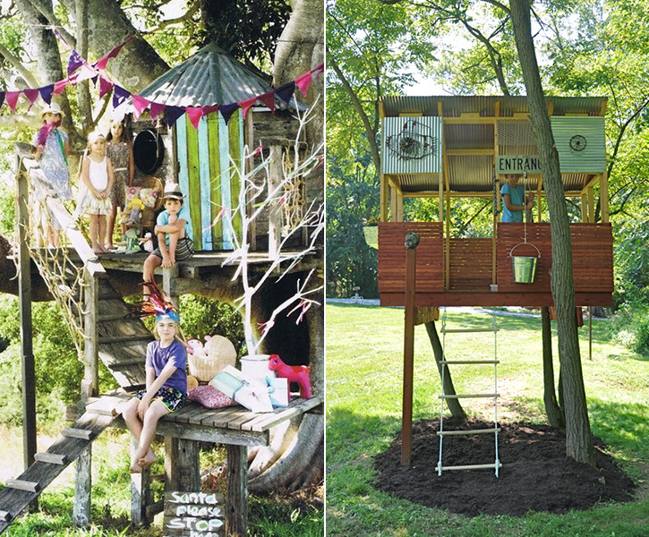 great ideas for treehouses!