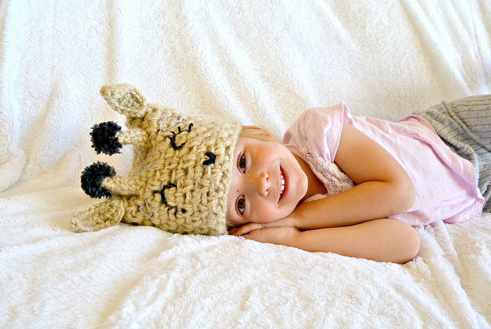 Crochet Giraffe Hat Tutorial