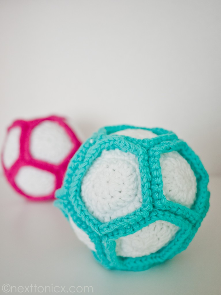 Crocheted Rattle Ball by Next to Nicx