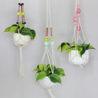 Hanging Copper Pipe Planter