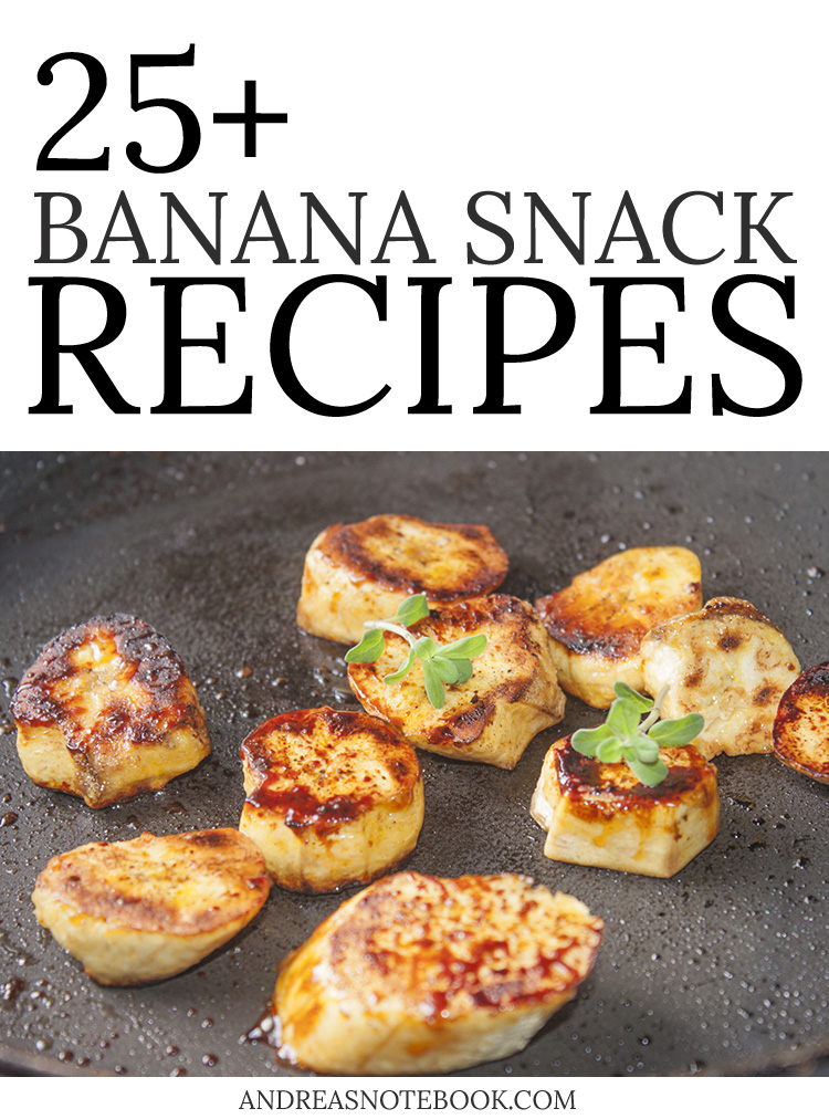 Got ripe bananas? Here are tons of ways to use them to make tasty snacks!!