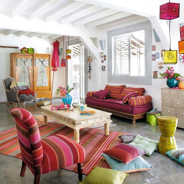 Chic Colorful Living Room: How To Bohemian Chic Your Home In 10 Steps