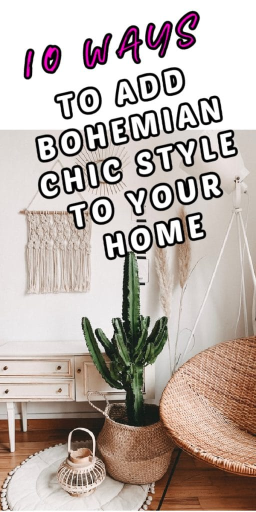 10 WAYS to Bohemian Chic Your Home pink cactus white wall desk macrame