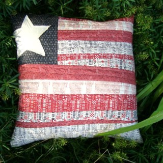 Flag Pillow Tutorial – Quilt as You Go Technique