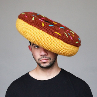 Crocheted Food Hats Kick Crochet Up a Notch