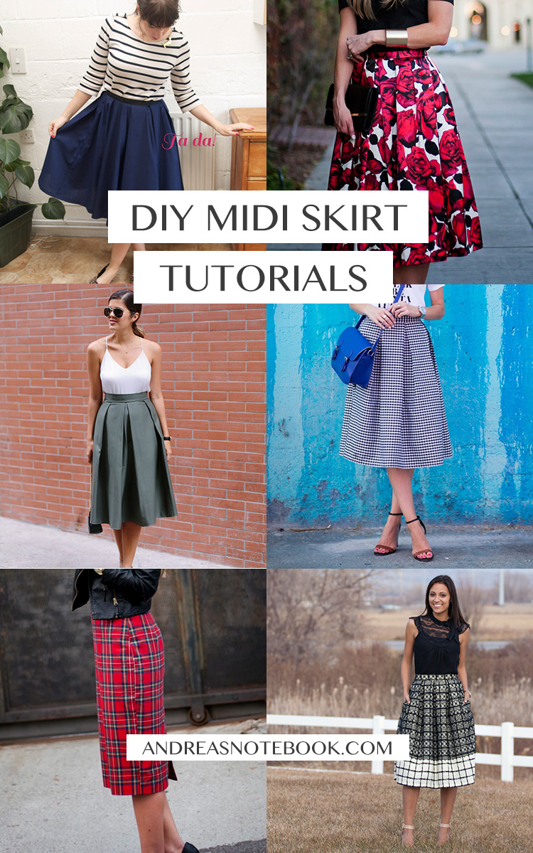 Beautiful DIY Midi Skirt Tutorials