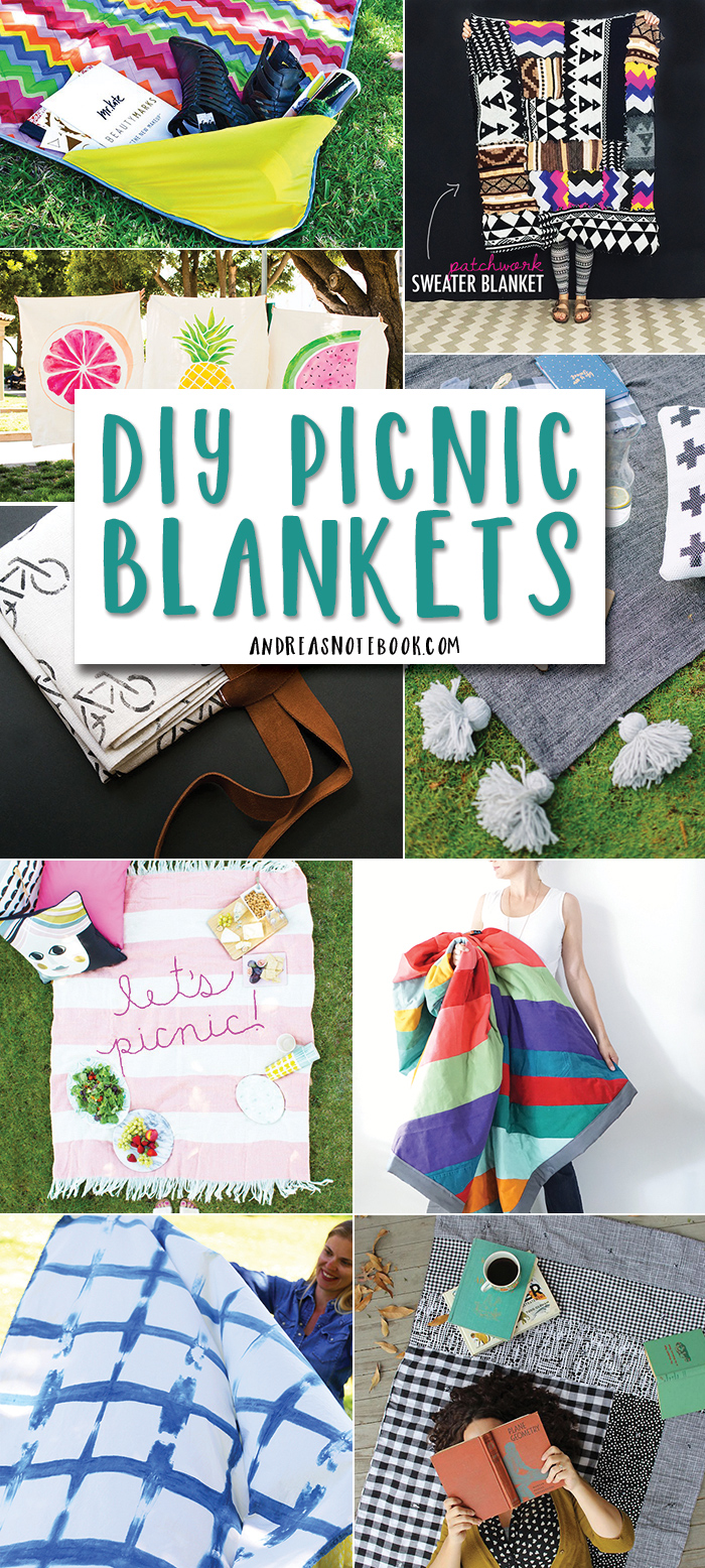 15 functional and beautiful DIY picnic blankets