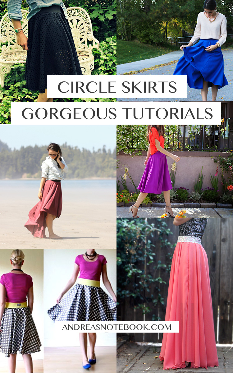 6 gorgeous circle skirt tutorials // AndreasNotebook.com