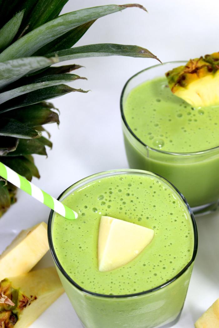 green milkshake