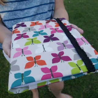 Composition Book Cover with Elastic Closure – Sewing Projects for Kids Series