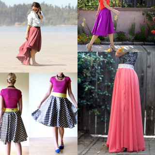 6 Gorgeous Circle Skirt Tutorials You'll Love