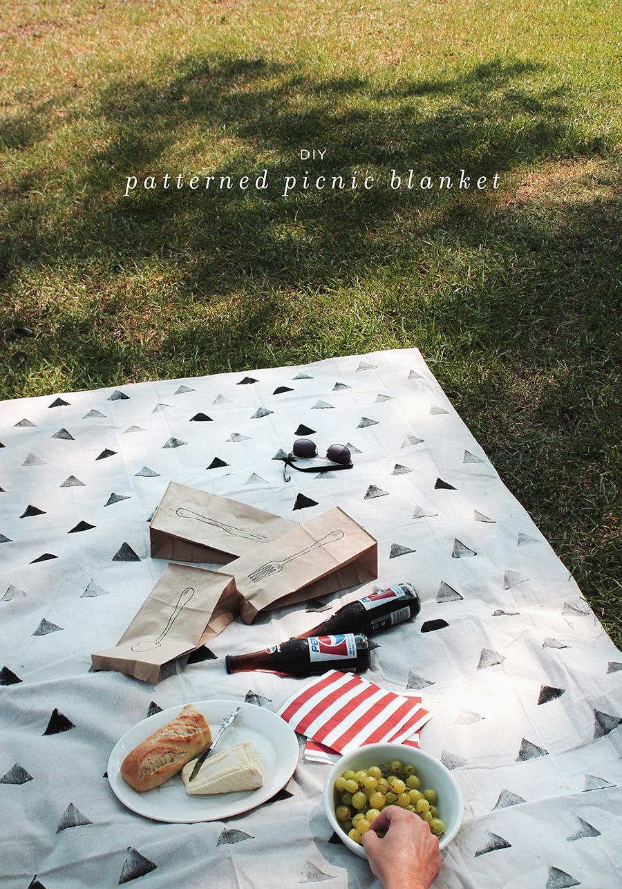diy-patterned-dropcloth-picnic-blanket