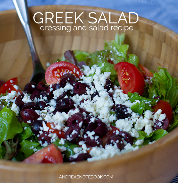 Delicious Greek Salad & Dressing Recipe - I could eat this every day!