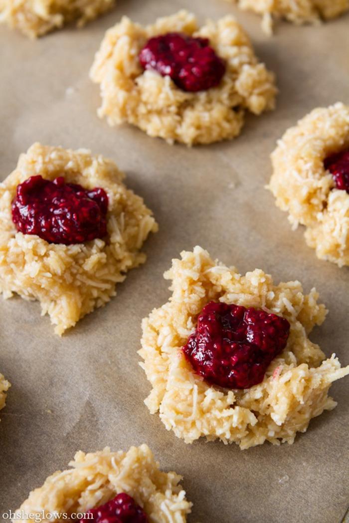 macaroon thumbprint cookies