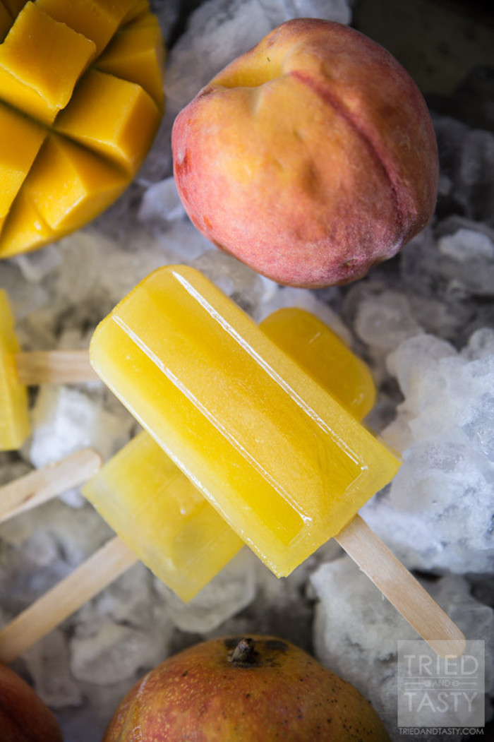 mango peach lemon popsicles