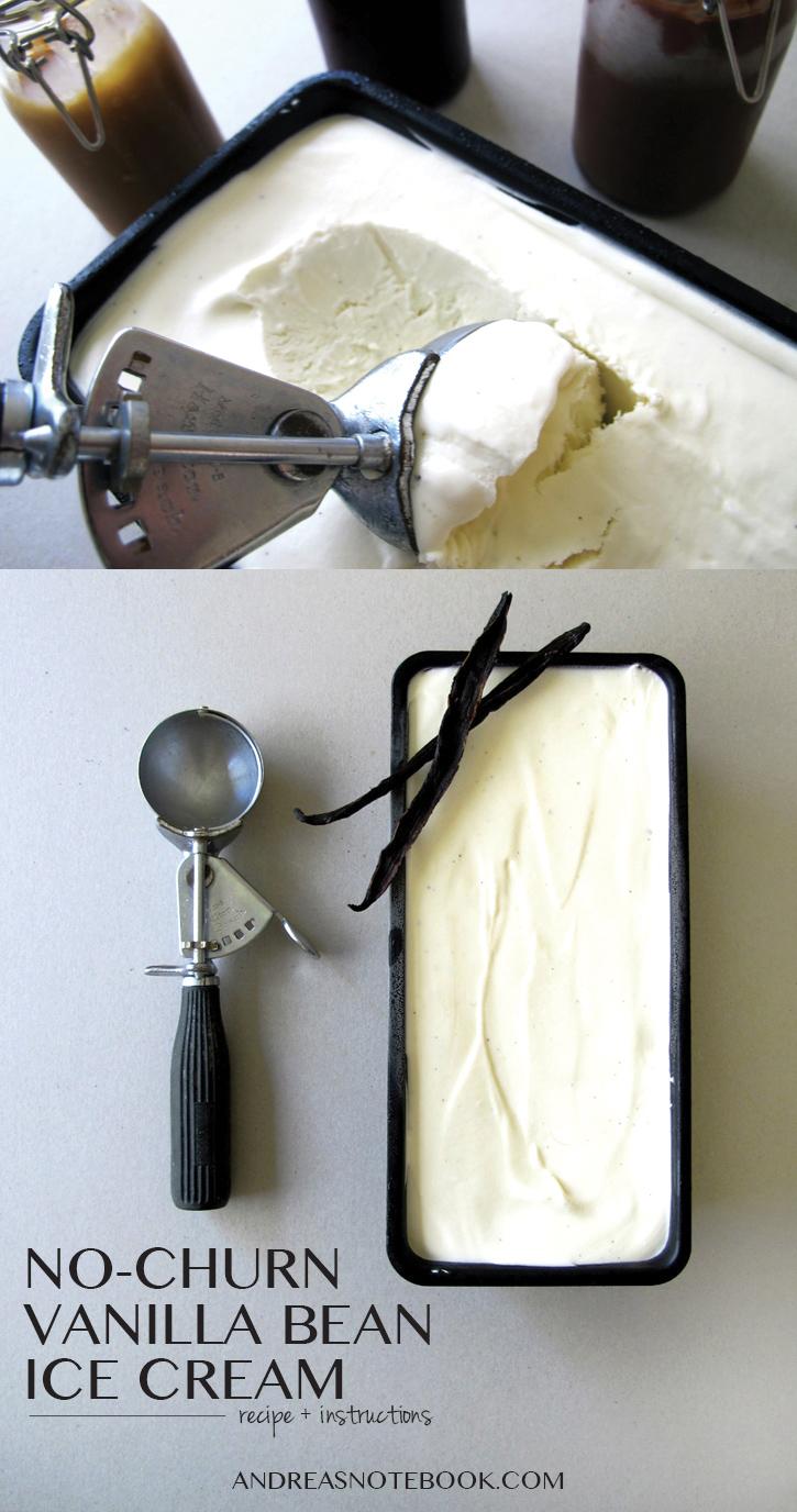 No-Churn Vanilla Bean Ice Cream Recipe