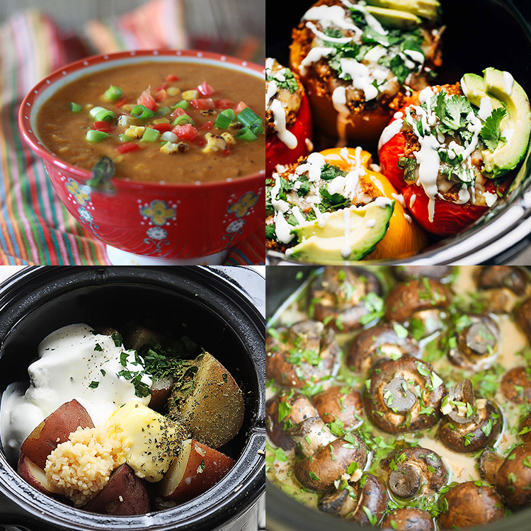 30 delicious vegetable crock pot recipes for Crock pot vegetarian recipes healthy