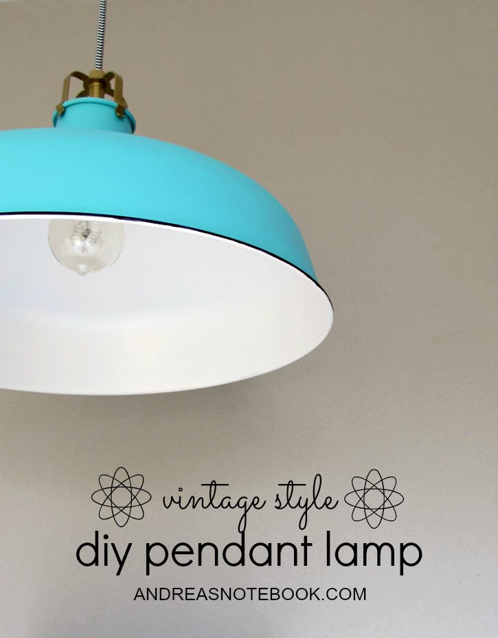 Vintage style pendant lamp diy surfing along pinterest one day i spotted my colorful dream pendant with a porcelain enamel finish aloadofball Gallery