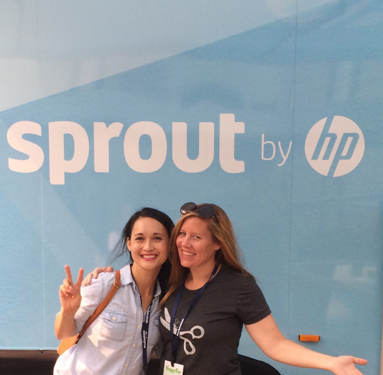@andreasnotebook and @deliacreates at the Sprout Truck #gomakethings