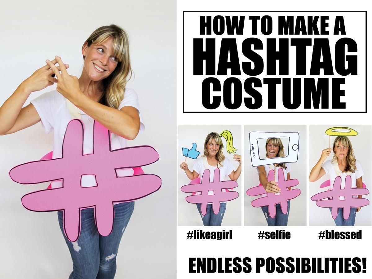 How to make a hashtag costume