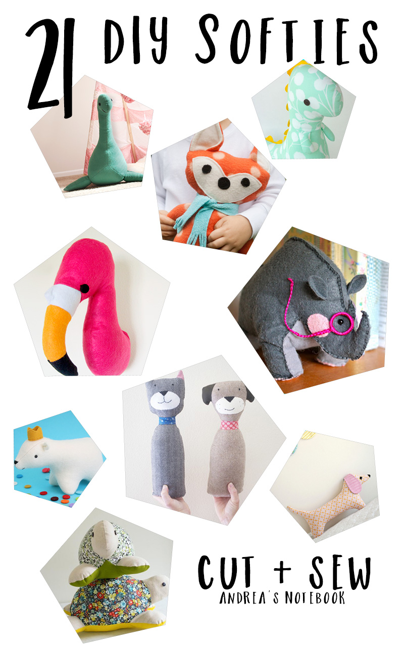 21 DIY softies to sew!