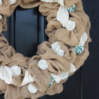 DIY Burlap Wreath 5