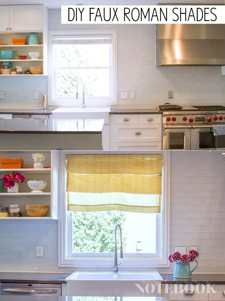 DIY faux roman shades tutorial - can you believe these took 10 minutes??