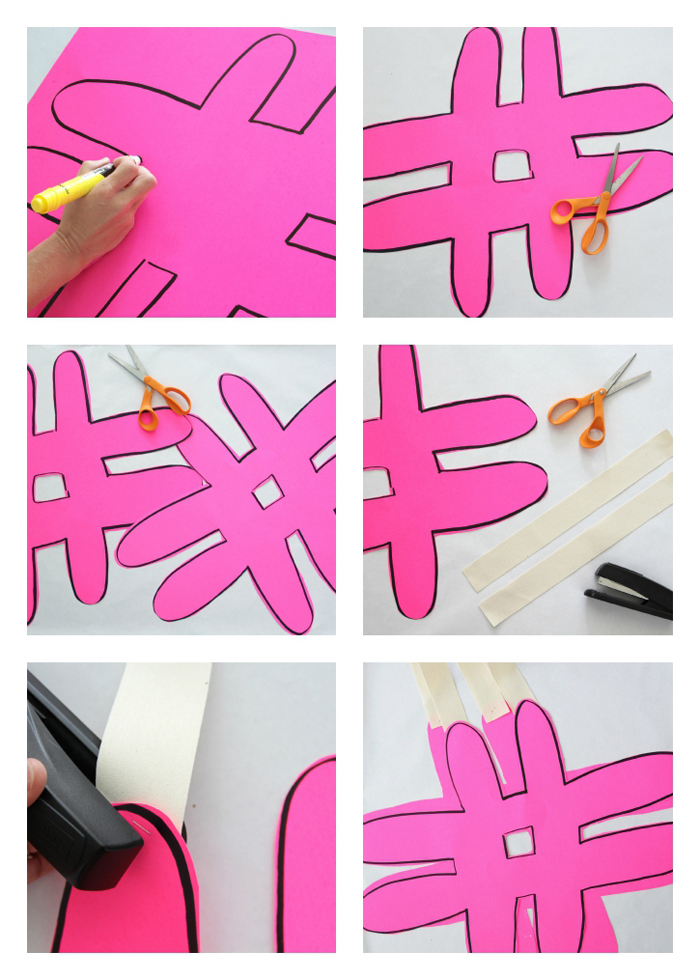 how to make a hashtag sandwich board