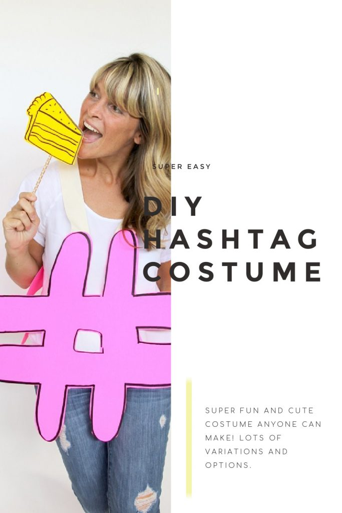 DIY hashtag costume tutorial and instructions